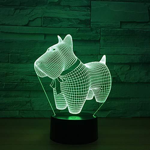 3D Lampe Charming Traum Hund Modell 3D Led Lampe 7 Farben Tier Ändern 3D Visuelle Led Nachtlichter Für Kinder Neue Schreibtisch Tischlampe Geschenk Weihnachtsgeschenke