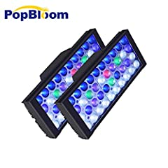 This aquarium Led Lighting System is special designed to imitation natural sun for LPS SPS reef coral and marine fish, please search DSunY on Youtube & Facebook to see how cool their light are -2 x full spectrum Panels + 1 smart controller ; Input Vo...