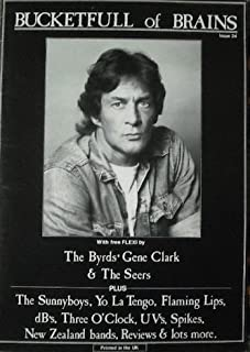 Bucketfull of Brains magazine #24 - GENE CLARK of BYRDS cover + FLEXI DISC