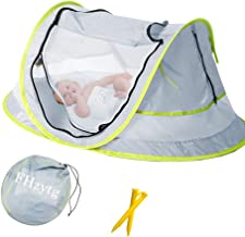 Aiernuo Large Baby Beach Tent, Portable Baby Travel Tent UPF 50+ Infant Sun Shelters Pop..