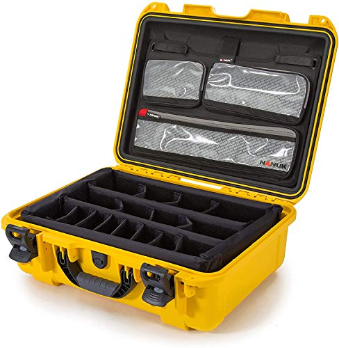 Nanuk 930 Waterproof Hard Case with Lid Organizer and Padded Divider - Yellow (930-6004)