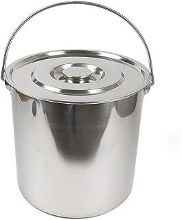 Kaibrite Seau de 20 litres en acier inoxydable avec couvercle en acier inoxydable