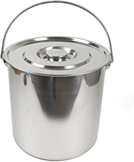 Kaibrite Seau de cuisine en acier inoxydable avec couvercle en acier inoxydable 20 l