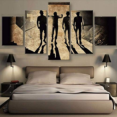 Wuwenw Modular Pictures Hd Printed Canvas Frame Living Room Wall Art 5 Pieces Clockwork Orange Abstract Painting Movie Posters,12X16/24/32Inch,Without Frame