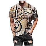 Tee Shirt Homme Pas Cher,T Shirt Homme Simple Grande Taille 3D Imprimée Tendance Top Manche Courte Col Rond Ample Hauts Casual Chic Vintage Slim Fit Fantaisie Blouse Sport Running Tennis Tunique