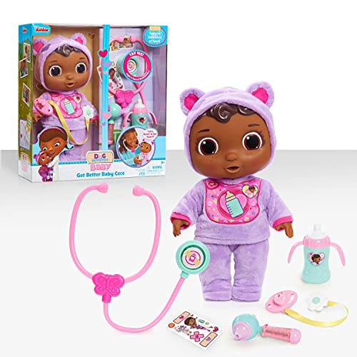 Doc McStuffins Disney Junior Get Better Baby Cece Doll with Lights and Sounds Stethescope and Doctor Accessories, by Just Play