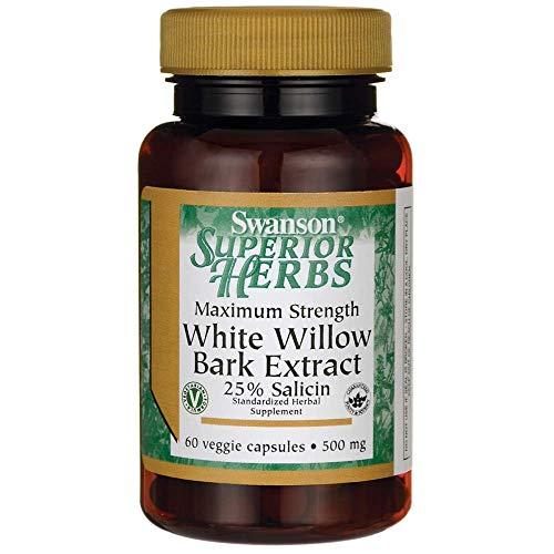 Maximum Power White Willow Bark 500 mg 60 Veg Caps