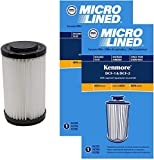 DVC Replacement Tower Filter fits 2082720 for The Kenmore DCF-1, DCF-2 Bagless Upright and Panasonic Commercial Bagless Upright Vacuums | Includes 2 Micro-Lined Filter
