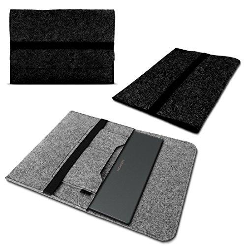 Medion Akoya E7424 E7420 Tasche Sleeve Hülle Notebook Filz Dunkelgrau Cover Case
