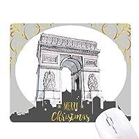 アークデtriomphパリフランス クリスマスイブのゴムマウスパッド