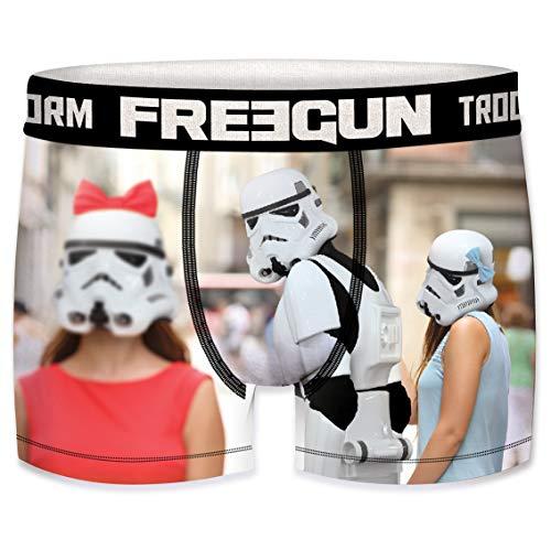 FREEGUN Star Wars Herren Boxershorts Funny Stormtrooper Krieg der Sterne Meme Druck 1er Pack S M L XL XXL, Größe:M, Farbe:Motiv 2 (SFSTT31BMCHE)
