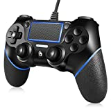 ORDA Wired Controller Compatible with PC,with Motion Motors,Mini LED Indicator and Anti-Slip Design -Blue