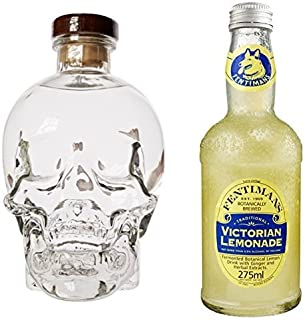 Crystal Head Wodka 1 x 0.7 l mit Fentimans Victorian Lemonade, 12er Pack 12 x 275 ml