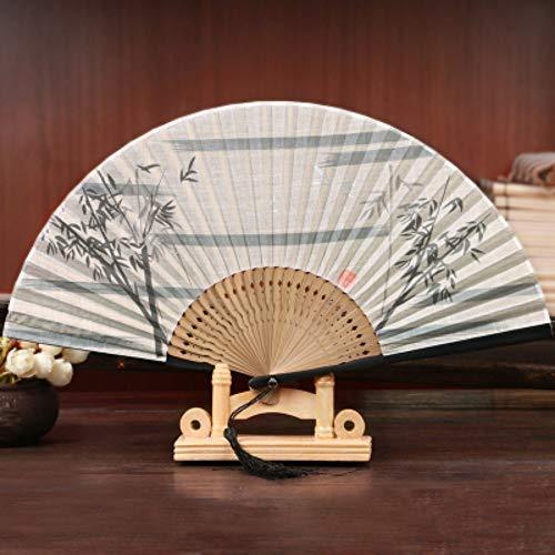 Vouwbare ventilator oude ventilator Chinees retro dames danszijde, zomer- en windventilator voor de dagelijkse blazer, wilgen/pruim/bamboe elegant