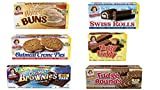 Little Debbie Big Pack Variety Bundle | One Big Pack Box Each of Oatmeal Crème Pies, Honey Buns, Swiss Rolls, Fudge...