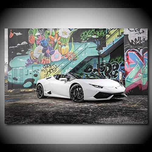 VVSUN Supercar Aventador Roadster Cars Imagen Arte de la Pared Pintura Lienzo Carteles e Impresiones Decoración Moderna para el hogar 60X90cm 24x36 Pulgadas Sin Marco