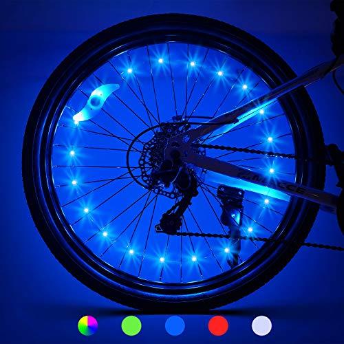 LET'S GO! Bike Wheel Lights Gifts for Men Gifts for Teens Boys Girls Easter Basket Stuffing & Birthday Gifts Presents for 5-18+ Boys Gifts for Dad, Brother, Uncle (2-Tire Pack, Blue)