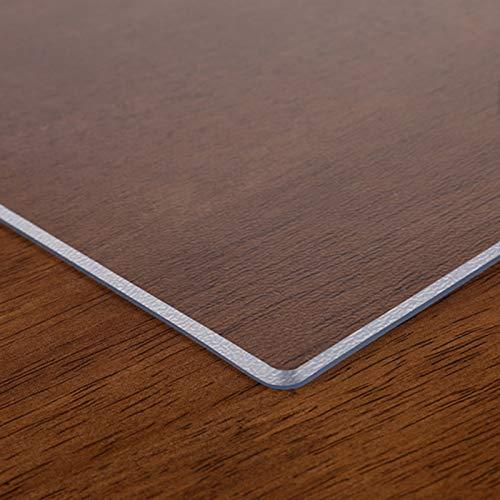 NLKE Glasklar Folie PVC Tischabdeckung Tischfolie Abwischbar Film 3mm Transparent Tischdecke Kunststoff Dick Schutzfolie Tischschutz Durchsichtig Tischschoner Abgeschrägt 3mmMatte-100x180cm/39x71in