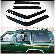 D/&O MOTOR 2pcs Front Doors Smoke Sun//Rain Guard Outside Mount Tape-On Window Visors for 07-17 Jeep Wrangler 2-Door