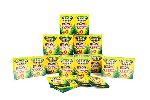 50 Pack CRAYOLA LLC FORMERLY BINNEY & SMITH MULTICULTURAL CRAYONS REG 8-PK