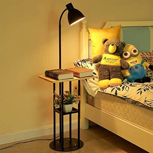 LY88 Licht LED Vloerlamp, Nordic Woonkamer Slaapkamer Slaapbank Bed Koffie Tafelrek Eenvoudige Moderne Verlichting Kleur : Zonder nachtlampje
