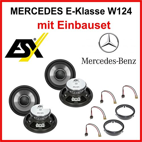 Lautsprecher Set ESX QE120 für Mercedes E-Klasse W124 1984-1997