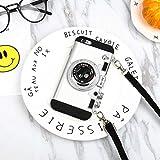 レトロな電話ケース-iphone11対応-シリコン素材/耐衝撃、レンズ保護、フィット感、耐摩耗性、エミリーと同じレトロなカメラスタイル (iPX/XS, 白)