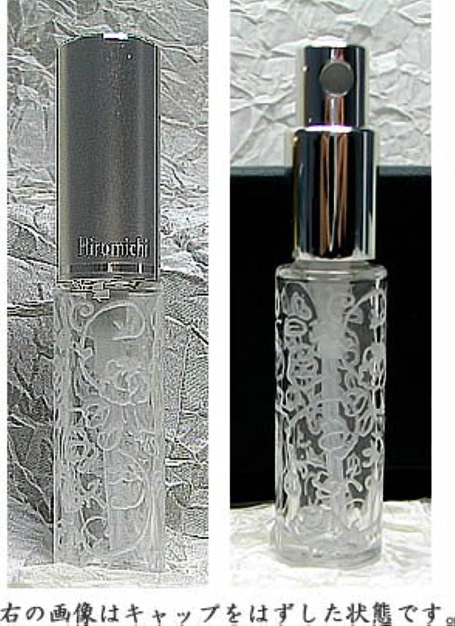 メールスカーフ温度計パースグラスアトマイザーハンドワーク 円筒瓶 サンドブラスト 蔓バラ