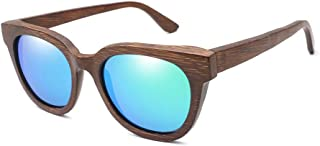 Fashion Bamboo Wood Sunglasses Men and Women Polarized Anti-Glare UV Protection Classic Square Colorful Lens Ultra Light Travel Party,4