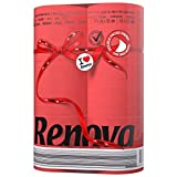 Renova Toilet Paper Red - 2 Ply, 6 Rolls, Colored And Perfumed, Tested Under Dermatological And Gynaecological Control, First time In INDIA