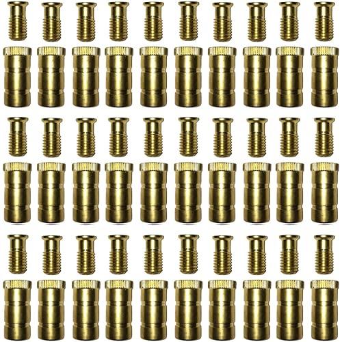 """Silginnes Pool Cover Anchors 30-Pack for Concrete and Pavers Deck - Universal Size Fits 3/4"""" Hole - Best for Pool Safety Cover Installation - Durable Brass Pool Cover Anchors and Head Screw Bolts"""