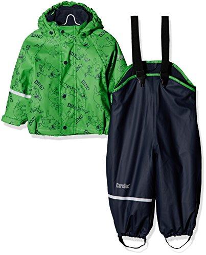 CareTec Kinder wasserdichte Regenlatzhose und -jacke im Set (verschiedene Farben), Grün (Green 974), 74