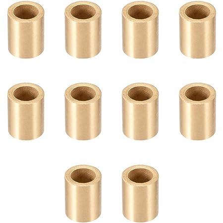 sourcing map Autolubrificante manicotto cuscinetto diametro interno 8 mm x 12mm diametro x 8 mm lunghezza boccole bronzo sinterizzate 10pz