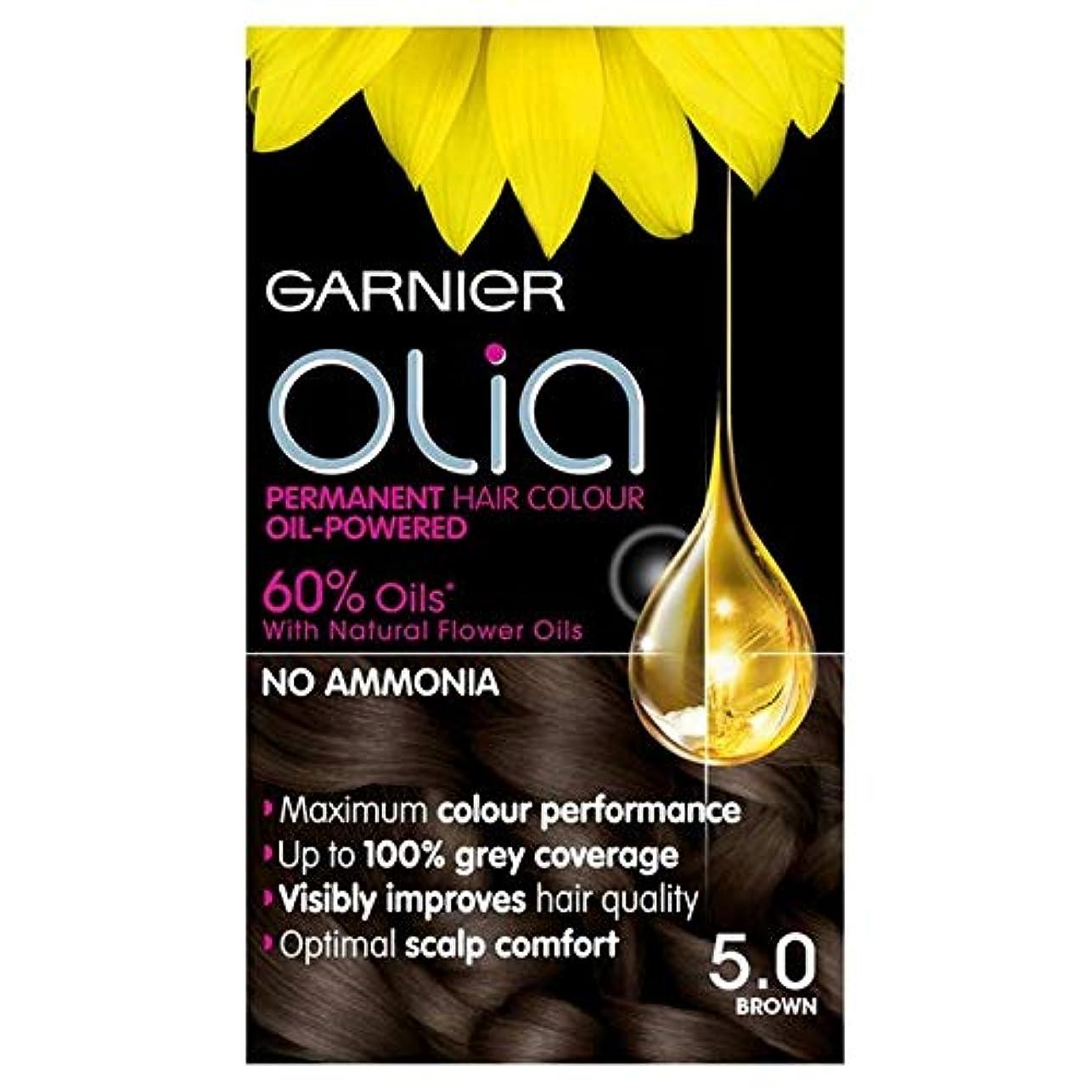 脚本シャットビリー[Garnier ] 5.0茶色の永久染毛剤Oliaガルニエ - Garnier Olia 5.0 Brown Permanent Hair Dye [並行輸入品]