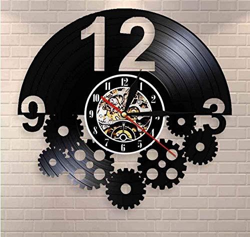 TPFEI Reloj de Pared Engranajes y Engranajes Colgante de Pared Arte Punk joyería decoración Reloj de Pared Regalo para Bicicleta Ventilador Engranaje Reloj Retro