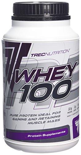 Trec Nutrition Whey 100, Complejo Proteínico, Sabor Plátano - 600 gr