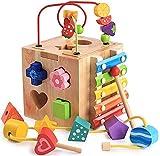 Juguete del juego Juguetes educativos Bebé de madera Multifuncional Intelligencia Forma de la forma de coincidencia cognitiva porosa cognitiva reborde bloques de construcción juguetes educativos Jugue