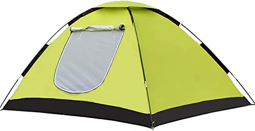 HEAGREN Tente extérieure 3-4 Personnes Park Prougeection Contre Le Soleil Vue Jour Acheter 1, Obtenir 2 Ensemble d'équipements de Camping en Plein air (Couleur   jaune)