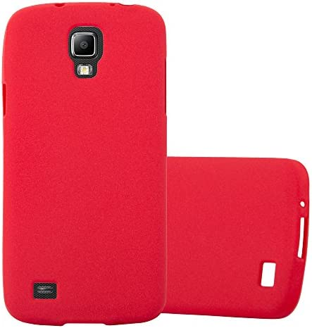 Cadorabo Case Compatible with Samsung Galaxy S4 Active in Frost RED Shockproof and Scratch Resistant product image