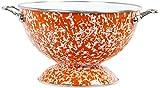 Calypso Basics by Reston Lloyd Powder Coated Enameled Colander, 3 quart, Orange Marble