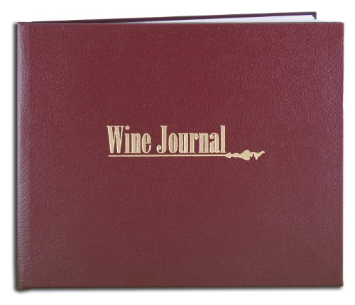 BookFactory Wine Journal/Wine Collector's Log Book/Wine Collectors Diary/Wine Notebook - Maroon Leather Cover - 72 Pages, Smyth Sewn Hardbound, 8 7/8