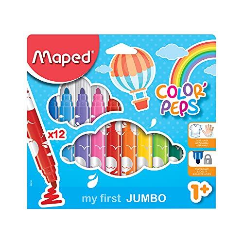 Caneta Hidrográfica, Maped, Color Peps Jumbo, 846020, 12 Cores