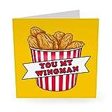 Central 23 – lustige Geburtstagskarte'You My Wingman' für Männer und Frauen – Mama Papa Ehemann Frau Bruder Schwester süße Tier-Hundekarten Witzig Humor Witty Pun Banter 21. 30. 40.