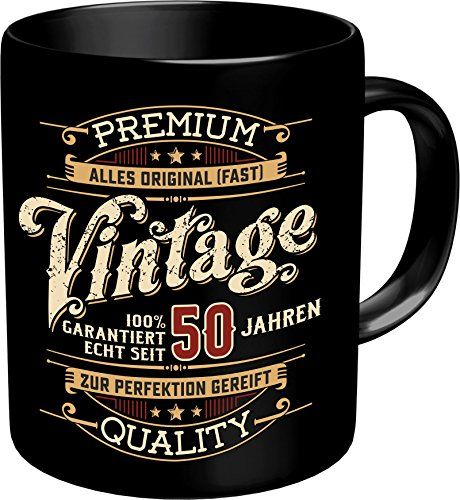 RAHMENLOS Original Kaffeebecher zum 50. Geburtstag: Vintage 50 - Im Geschenkkarton 2633