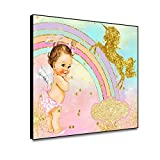 N / A Cartoon Unicorn Nursery Mural Canvas Painting and Poster Picture For Living Room Animal Poster Wall Art Frameless 50x40cm