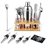 SUPHOOK Cocktail Set 17 Teilig, Cocktail Shaker 750ML, Cocktail Shaker Edelstahl Bar-Werkzeug-Set, Cocktail Set mit Rezeptbuch, Bar Set Bar Zubehör Shakerset mit Sieb