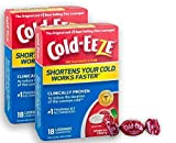 Cold-EEZE Cold Remedy Lozenges All Natural Cherry, 18ct Twin Pack
