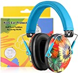 PROHEAR 032 Ear Defenders for Children, Noise Reduction for Autistic Kids Have Sensory Issues, Teens Safety Hearing Protection Muffs, Ideal for Firework, Air Shows, Study - Blue Graffiti