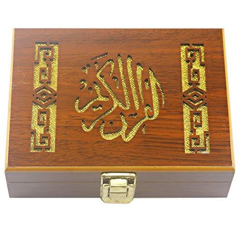 YTO Caja de artesanías de Madera de Eid Mubarak, Pintura Antigua de Ramadán coloque la Caja de Almacenamiento de Concha de Libro bíblico
