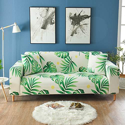 WXQY Funda Protectora de sofá de Flores con Estampado geométrico para Sala de Estar, decoración del hogar, Funda Protectora para sofá, Funda Protectora elástica para sofá A27, 2 plazas